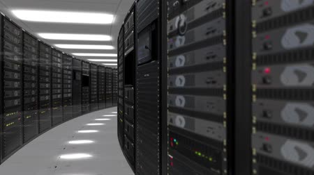 Animation of rack servers in data center Stock Footage