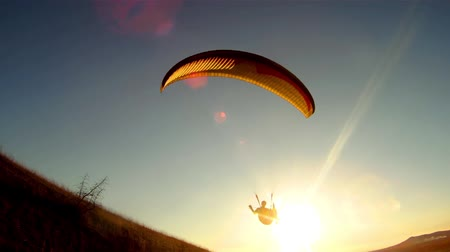 adventure : Following Parachute silhouette