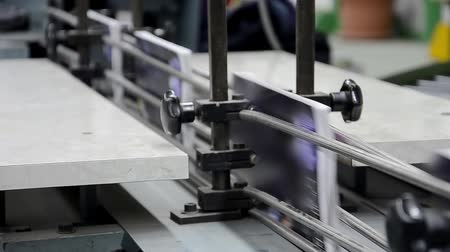 print shop : Magazine printing in a factory, book production line Stock Footage