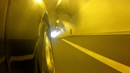 underground tunnel : car fast in tunnel with hd stock video