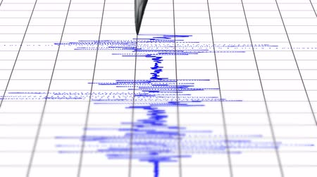földrengés : 4k Earthquake seismograph. UHD animation