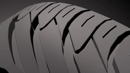 kullanılmayan : Close up on a car tire in motion, HD Stock Video Stok Video