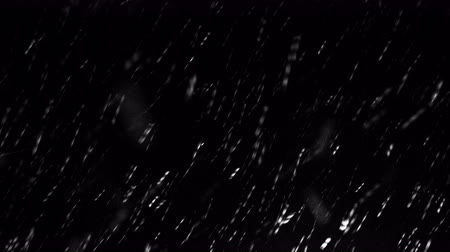 ультра : 4k Blizzard falling rain and snowflakes, matte, wide angle, uhd real stock video footage, use in other footage with overlay alpha matte