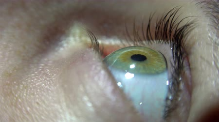 macro : 4K Human eye close up macro, UHD stock video