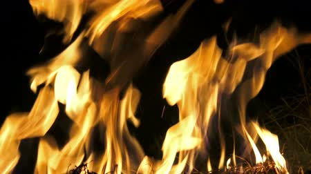 quad hd : 4K Detailed fire background (UHD, seamless loop) Stock Footage