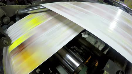 printings : 4k Printing press printing newspapers, uhd stock video