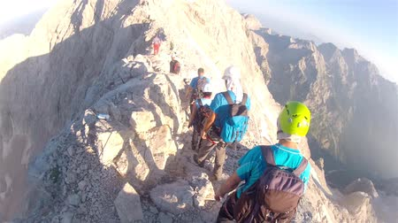 picos : Mountaineer pov to expedition climbing to Triglav summit on Julian Alps mountain range