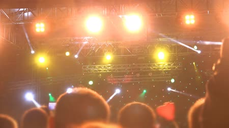 festa : 4k Concert Arena waves night Stock Footage