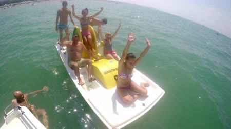 a party : Summer Pedal boat party fun
