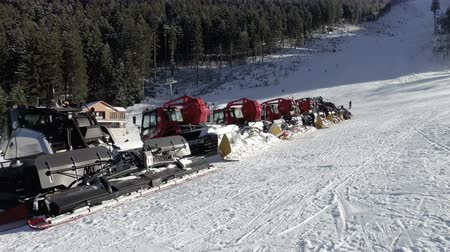 snowcat : Ski slopes in Bansko mountain resort are maintained by a professional team of slope maintenance snowcat service