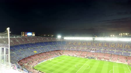 jogador de futebol : View of Camp Nou stadium before the Spanish Cup match