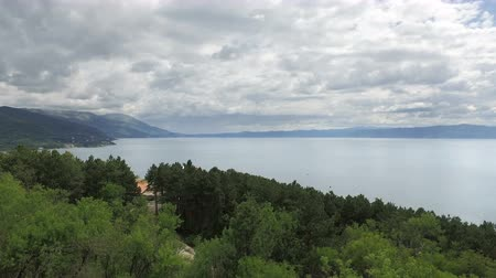 ohrid : View to Ohrid Lake from fortress highest hll point, Macedonia
