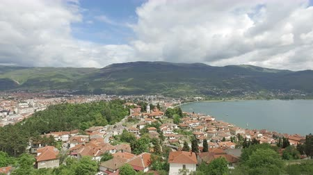 ohrid : View over Ohrid from the Car Samoil�s Fortress in Macedonia