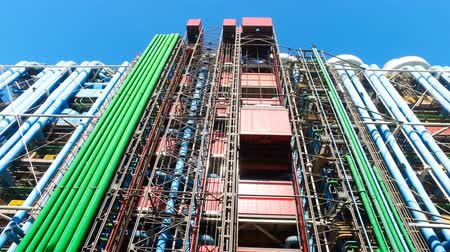 parisian : The Pompidou cultural center facade  in Paris