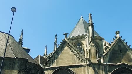 mary : Exterior of church of Saint Severin in Latine quartier in Paris,