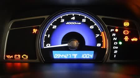kilometer : start car dashboard and Odometer