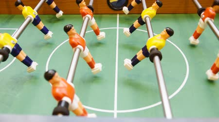 Detail of a table soccer game