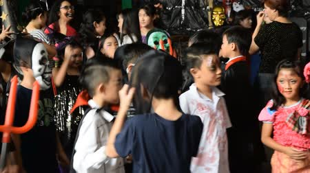 BANGKOK THAILAND-October 22:  Halloween party with group children, on October 22,2015 in Thailand