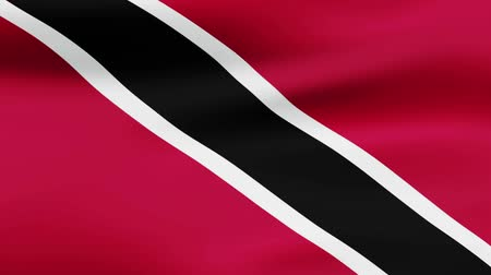 film şeridi : Loop animated waving flag of Trinidad and Tobago