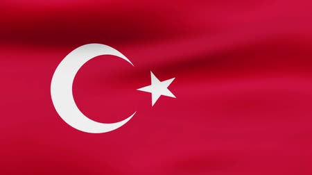 film şeridi : Loop animated flag of Turkey Stok Video