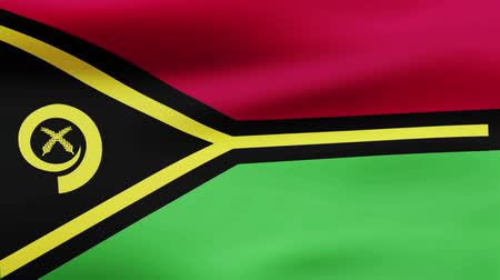 film şeridi : Loop animated flag of Vanuatu