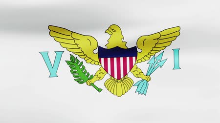 film şeridi : Loop animated flag of Virgin Islands US