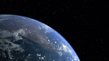 planety : Planet earth with moon in space