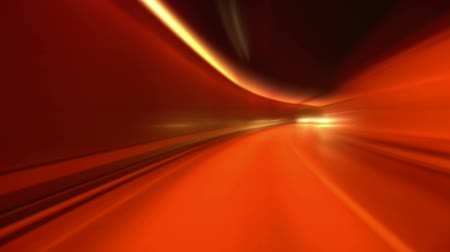 light trails : Driving through tunnel, abstract with motion blur and glow
