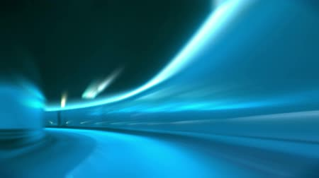 snel : Rijden door tunnel, abstracte met motion blur en gloed Stockvideo