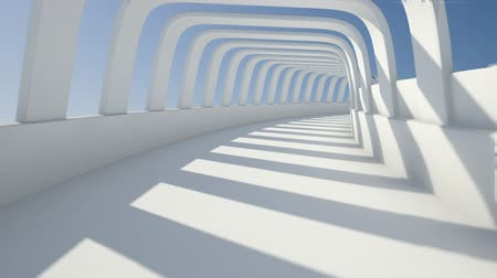 hal : abstracte tunnel Stockvideo