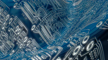 микро : abstract background of a circuit board Стоковые видеозаписи