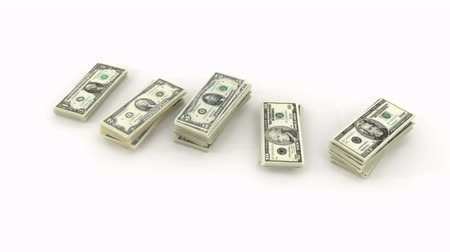 tesouro : Bundles of dollars Stock Footage
