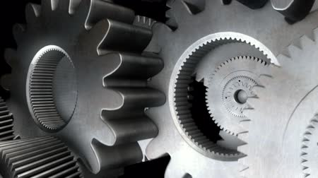interlock : gears cogs and pinions  Stock Footage