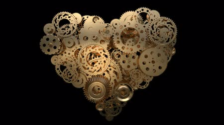 tekerlekler : heart made of gear wheels
