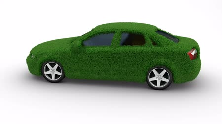efektywność : Eco car made of grass looping with matte