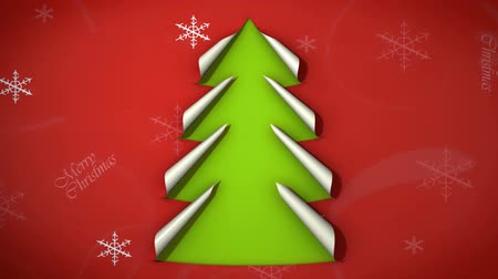 stuha : Christmas tree from curled corner paper