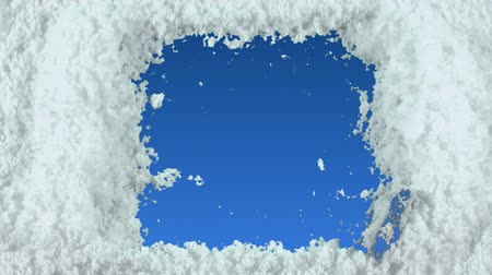 чистый : Winter frame drawn on snow background with matte