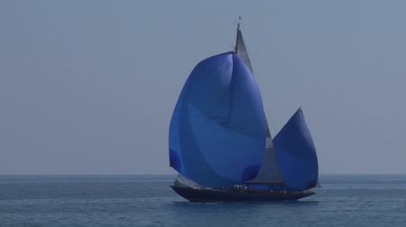 cordas : Old sailing boat in Mediterranean Sea during a regatta.