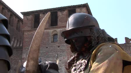 fantasy fantastic : Evil warrior during Soncino Fantasy Festival, an event dedicated to the fantastic Middle Ages in the beautiful surroundings of the magnificent Soncino Castle