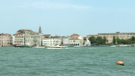 túmulo : Sea view from Dogana to Piazza San Marco, Venice (Italy) Stock Footage