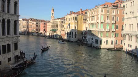 veneza : Grand Canal view from Rialto bridge, Venice (Italy)
