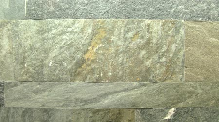 çini : Close up of stone tile, horizontal tracking Stok Video