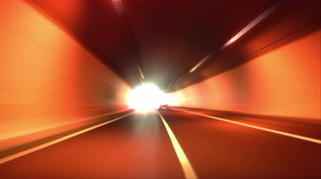 urychlit : Driving through tunnel, abstract with motion blur and glow