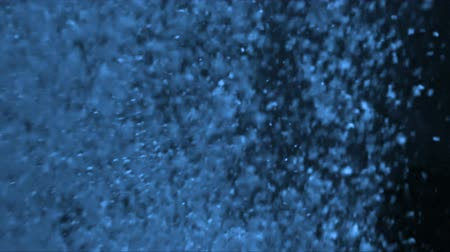 limpid : Bubbles underwater on a blue background Stock Footage
