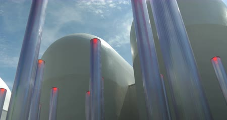 tubular : Futuristic tubular led illumination Stock Footage