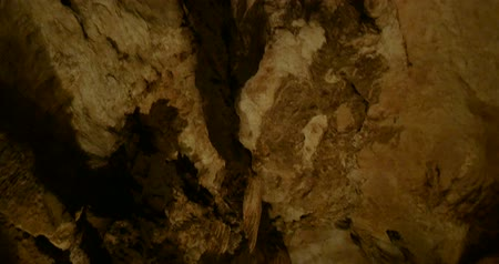 subterranean : Stalactites and stalagmites in a limestone cave.