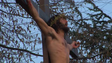 Христос : Via Crucis Way of the Cross. Representation of Jesus crucifixion