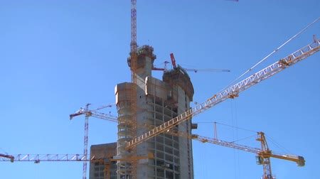 bina : Time-lapse of a modern building under construction