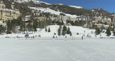 wicket : Cricket on Ice in St. Moritz (Switzerland) on 18th February 2016