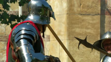 villain : Close up of renaissance soldiers fighting during Verona Rinascimentale reenactment on May 24, 2014 in Verona, Italy